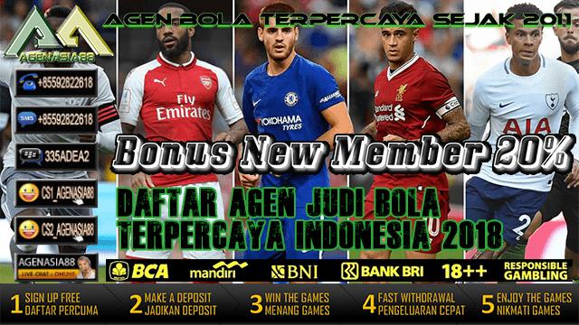 Daftar Agen Judi Bola Terpercaya Indonesia 2018